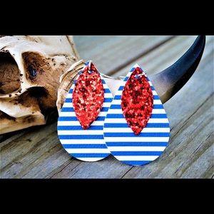Double stack tear drop earrings